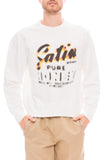 Our Legacy Mens White Graphic Pullover Sweatshirt Front View