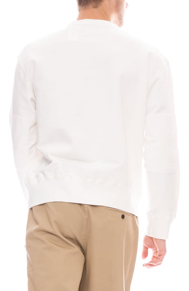Our Legacy Mens White Graphic Pullover Sweatshirt Back View