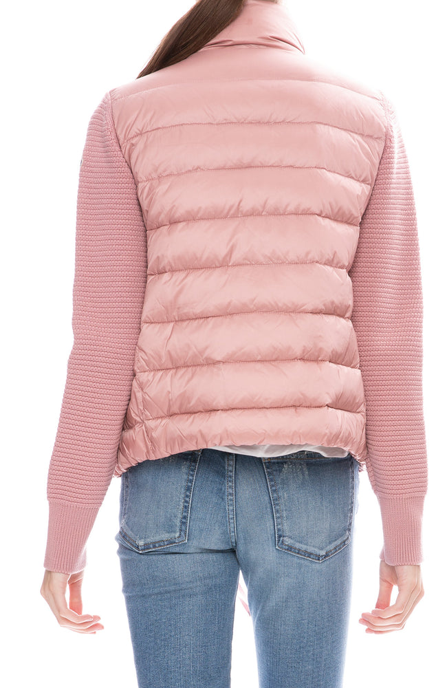 Maglione Puffer Cardigan with Knit Sleeves