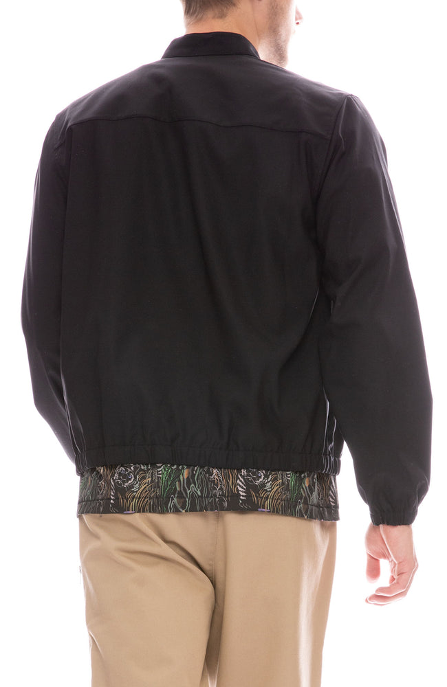 3.1 Phillip Lim Black Wool Blouson Shirt Jacket