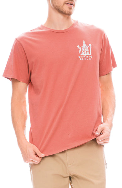 Pasadena Leisure Club City Of Leisure T-Shirt in Coral