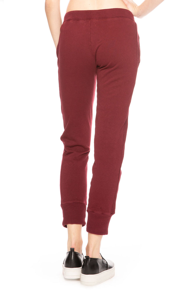 Monrow Stretch Sporty Sweatpants in Bordeaux at Ron Herman