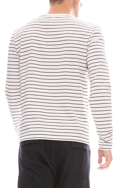 Ami Long Sleeve Stripe T-Shirt