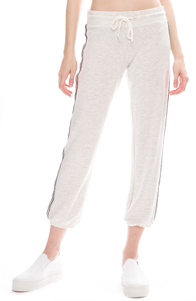 Monrow Side Stitch Sweatpants in Ash