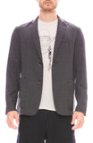 Barena Mens Two Button Flannel Blazer in Cenere Grey