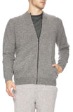 Sunspel Wool Zip Jacket in Mid Grey Melange at Ron Herman