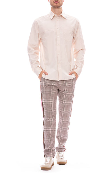 Mother Shaker Prep Plaid Pants with 3.1 Phillip Lim Shirt