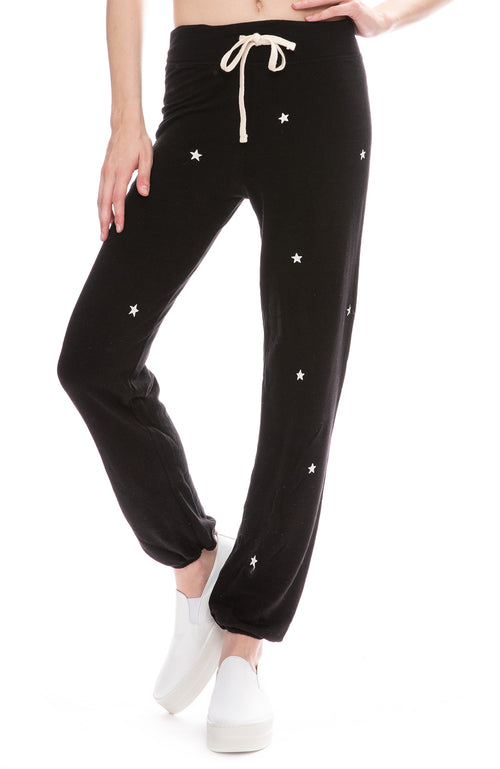 Sundry Classic Star Sweatpants in Black