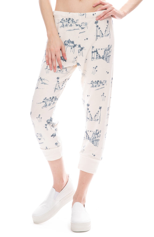All Things Fabulous Los Angeles Print Cozy Sweatpants