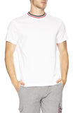 Moncler Mens Striped Crew T-shirt in White