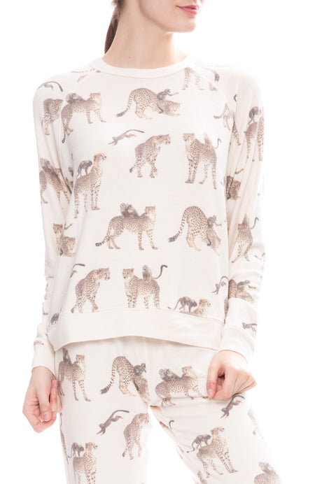 Cheetah Monkey Cozy Sweatshirt