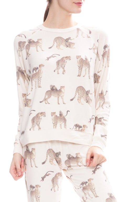 All Things Fabulous Cheetah Monkey Cozy Sweatshirt