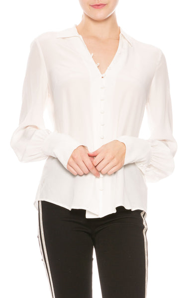 L'Agence Naomi Silk Blouse at Ron Herman