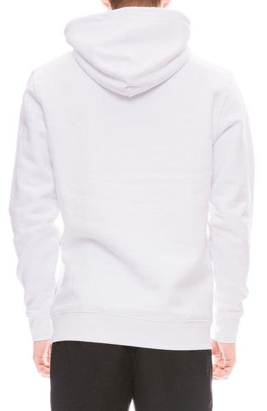 Yeah Right NYC Mens White Hoodie with Get High Embroidery Back View