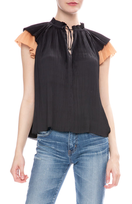 Sade Pleated Top
