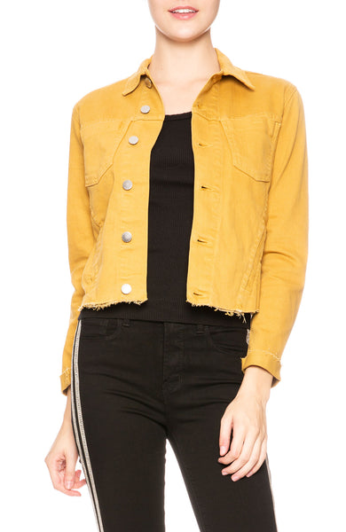 L'Agence Janelle Jacket in Gold at Ron Herman