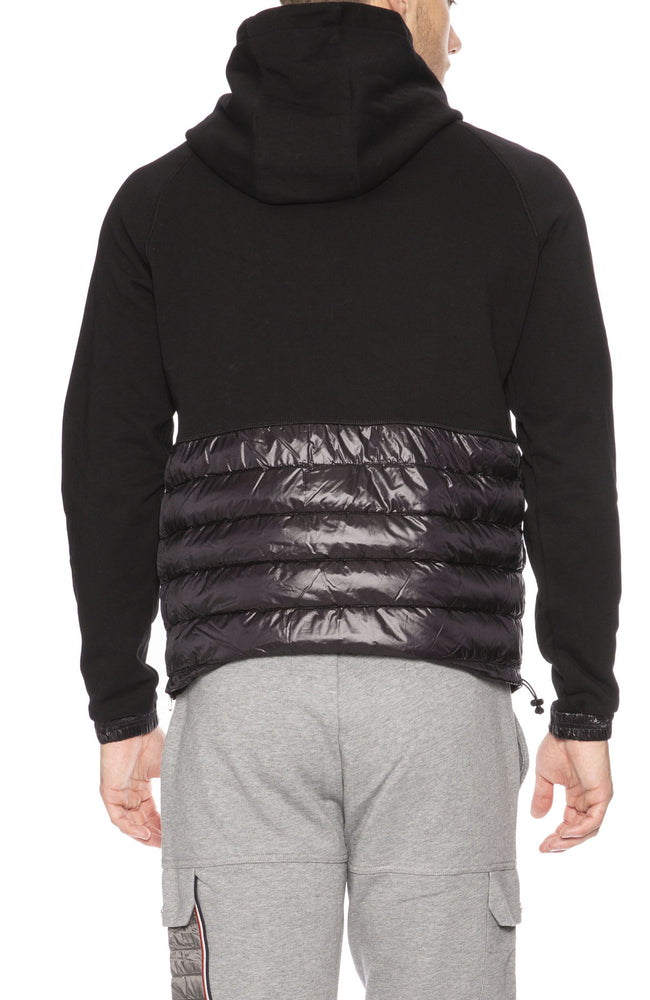 Moncler Mens Puffer Base Pullover Hoodie in Black
