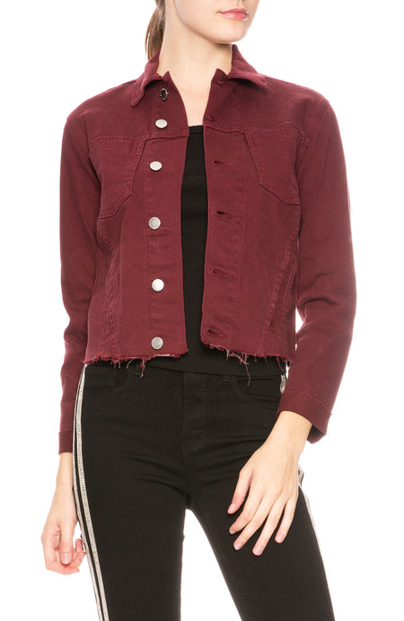 Janelle Jacket in Garnet