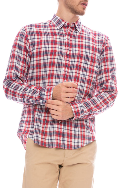 Don 10 Year Heritage Plaid Linen Shirt