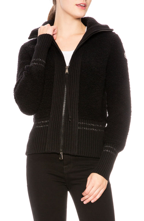 Moncler Maglione Tricot Cardigan in Black at Ron Herman