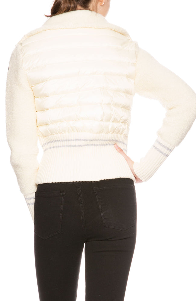Moncler Maglione Tricot Cardigan in White at Ron Herman