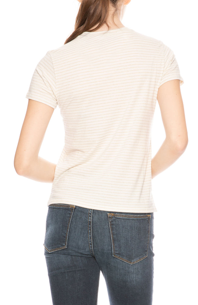 ATM Sparkle Stripe Tee at Ron Herman