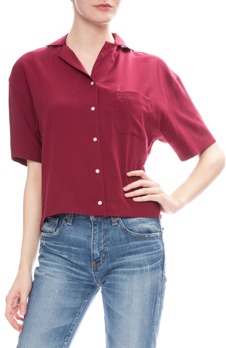 Open Collar Tencel Shirt