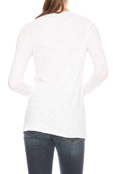 ATM Slub Jersey Long Sleeve Tee in White at Ron Herman