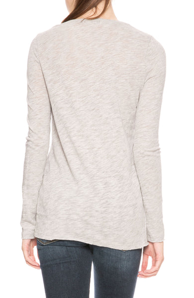 ATM Slub Jersey Long Sleeve Tee in Grey at Ron Herman