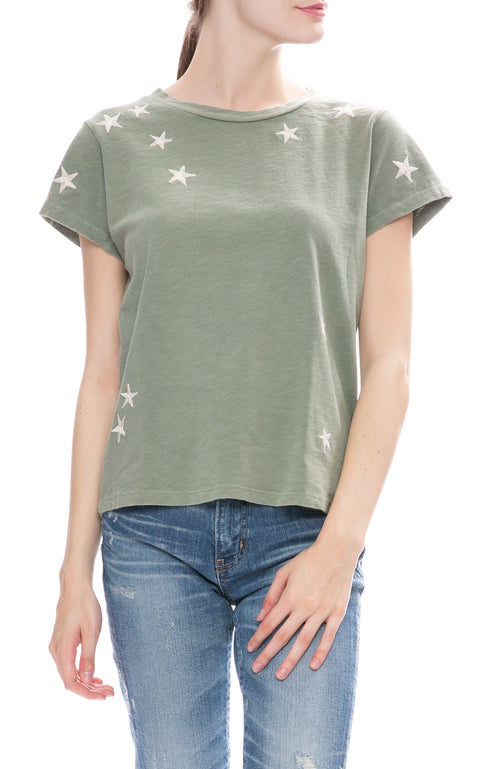 Mother Under The Starry Sky T-Shirt in Army Green