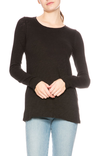 ATM Slub Jersey Long Sleeve Tee in Black at Ron Herman