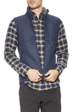 Relwen Windproof Quilted Nylon Vest in Navy