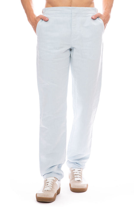 Griffon Two Tone Linen Pants