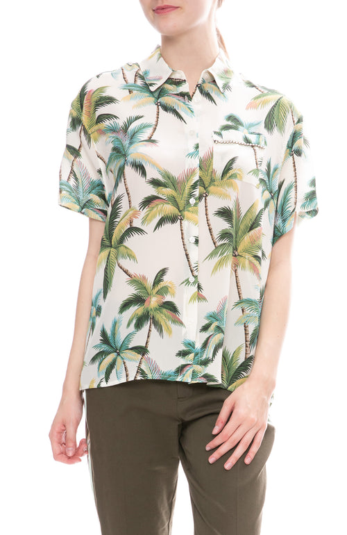 Le Superbe Club Tropicana Palms Print Shirt
