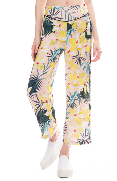 Le Superbe Destination Unknown Hawaiian Print Pants