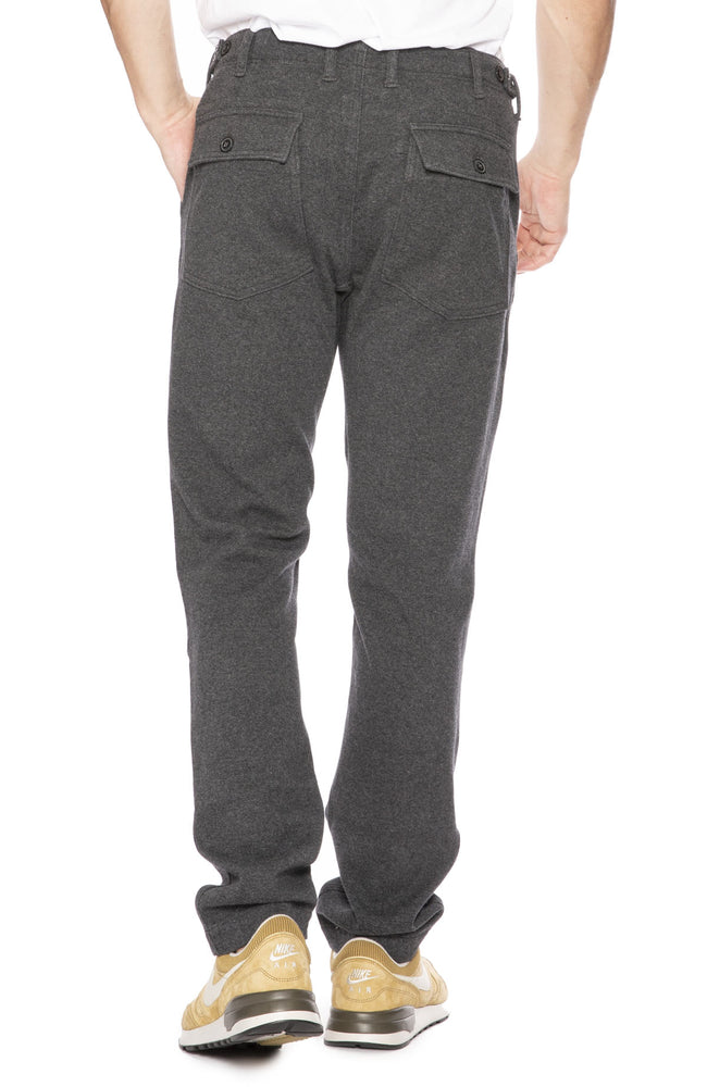 Relwen Slim Supply Pants in Charcoal Stretch Flannel