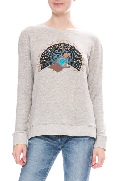 Le Superbe To The Moon Sweatshirt in Grey