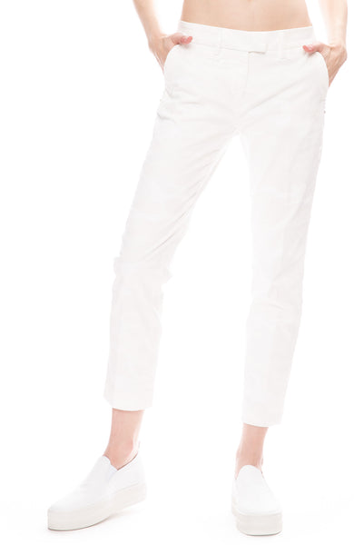 Masons Womens New York Camo Pants in White