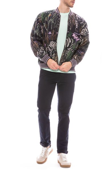 3.1 Phillip Lim Mens Souvenir Bomber Jacket with Acne T-Shirt and Propaganda Agency Pants