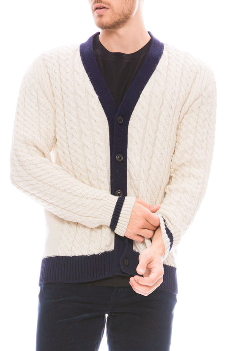 Cable Knit Alpaca Cardigan