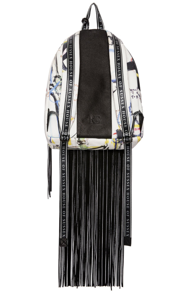 House of Sussex x Louis Carreon Eve Fringe Backpack with Swarovski Crystals