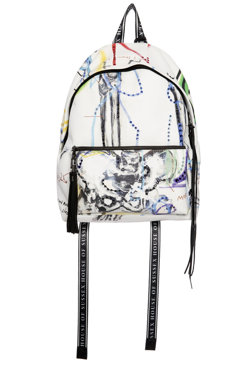 House of Sussex x Louis Carreon Serpent Leather Backpack with Swarovski Crystals