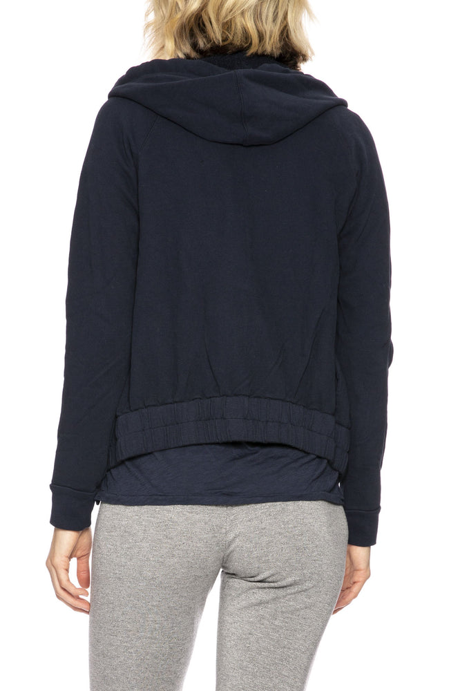 Stateside French Terry Hoodie in Navy at Ron Herman