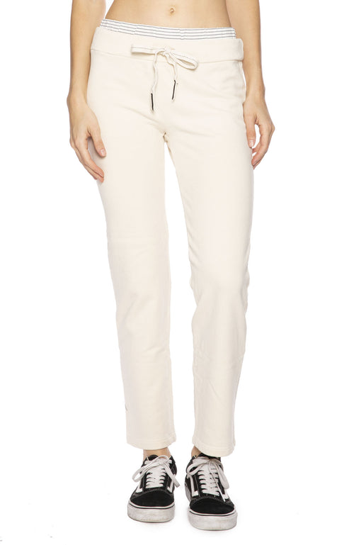 Stateside Top Stripe Jogger in Cream at Ron Herman