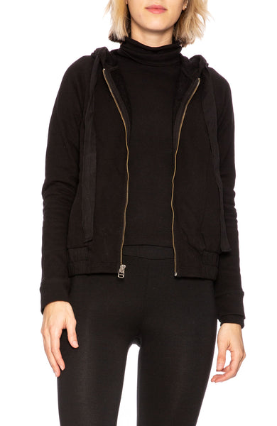 Stateside French Terry Hoodie in Black at Ron Herman