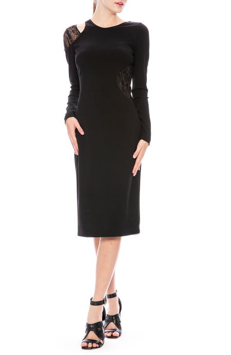 Ponte Long Sleeve Cocktail Dress