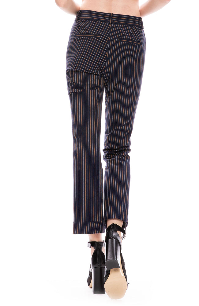 Derek Lam 10 Crosby Thin Striped Cropped Flare Trouser Pants at Ron Herman