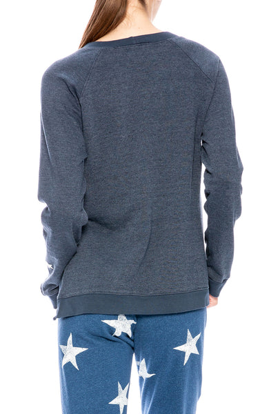 Monrow Star Split Raglan at Ron Herman