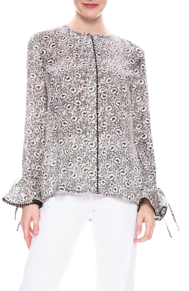 Derek Lam 10 Crosby Floral Print Blouse at Ron Herman