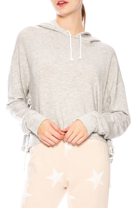 Tessa Side Lace Up Hoodie